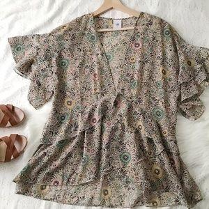 Sheer Floral Blouse // Cabi
